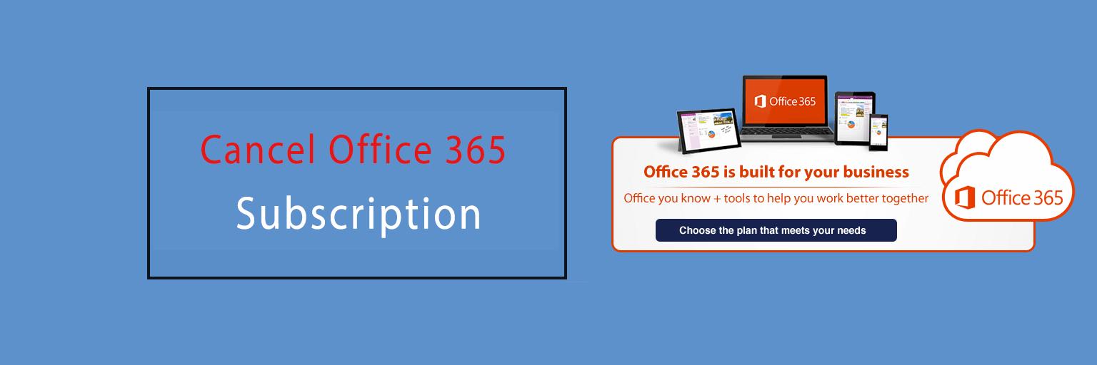 Cancel Office 365 Subscription